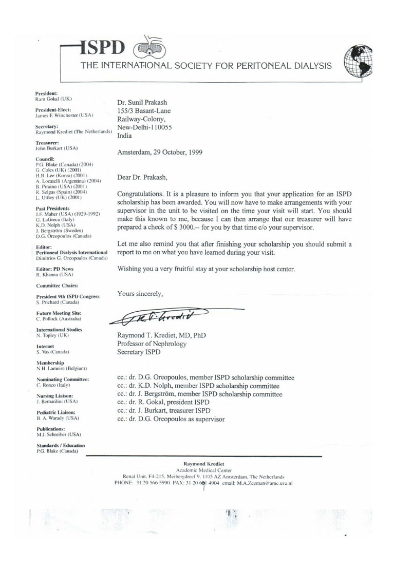 Certificates - Best nephrologist in India